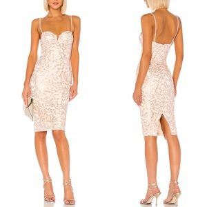Michael Costello Midi Revolve Gervais Dress Peach